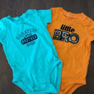 Greatest Little Brother Set Of 2 Bodysuits - 12M